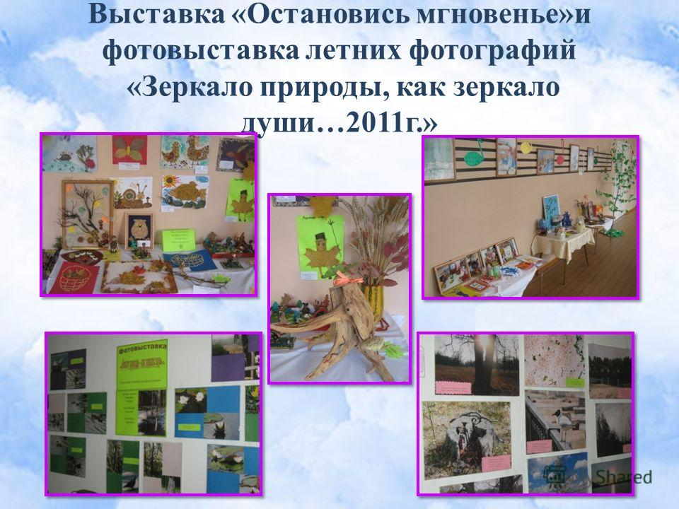 Выставка «Остановись мгновенье»и фотовыставка летних фотографий «Зеркало природы, как зеркало души…2011г.»