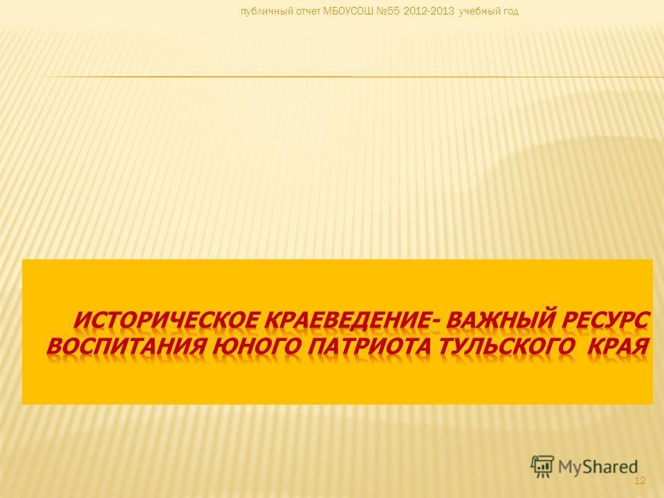 12 публичный отчет МБОУСОШ 55 2012-2013 учебный год