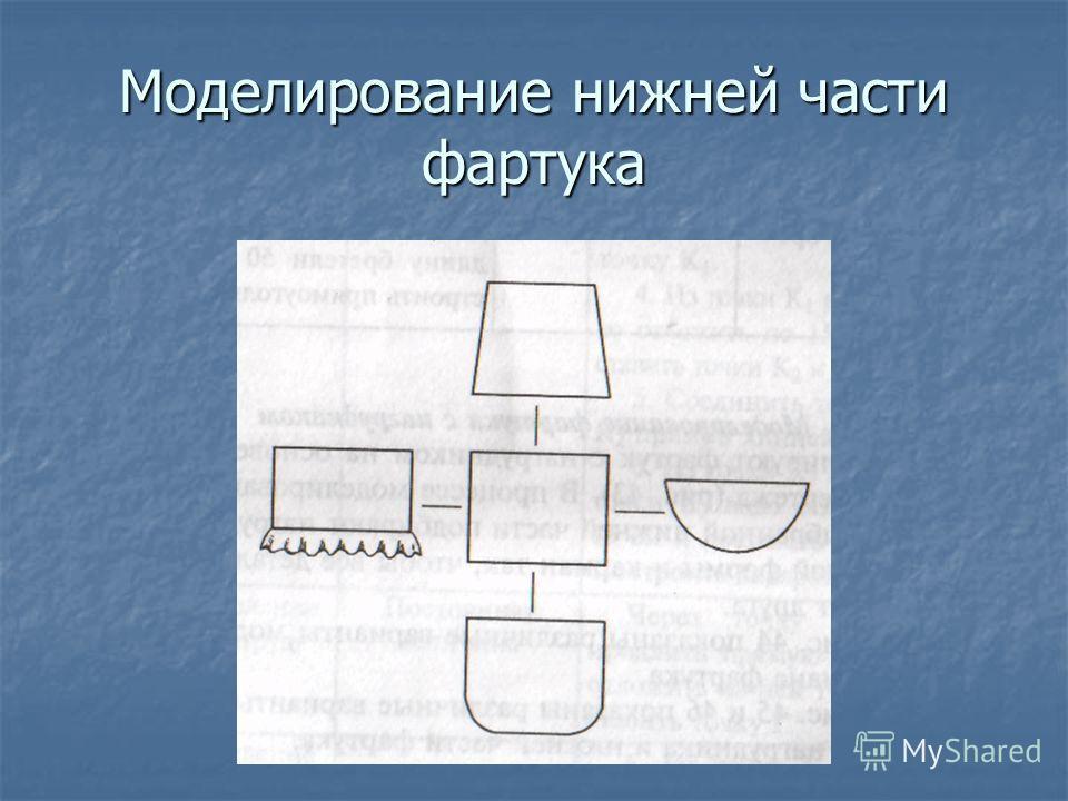 Моделирование нижней части фартука