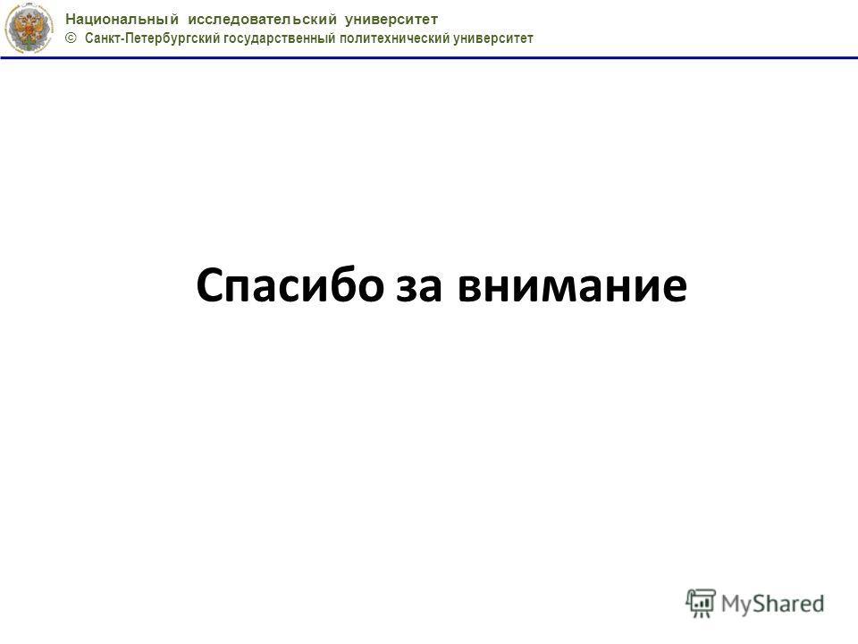 Национальный исследовательский университет © Санкт-Петербургский государственный политехнический университет Спасибо за внимание