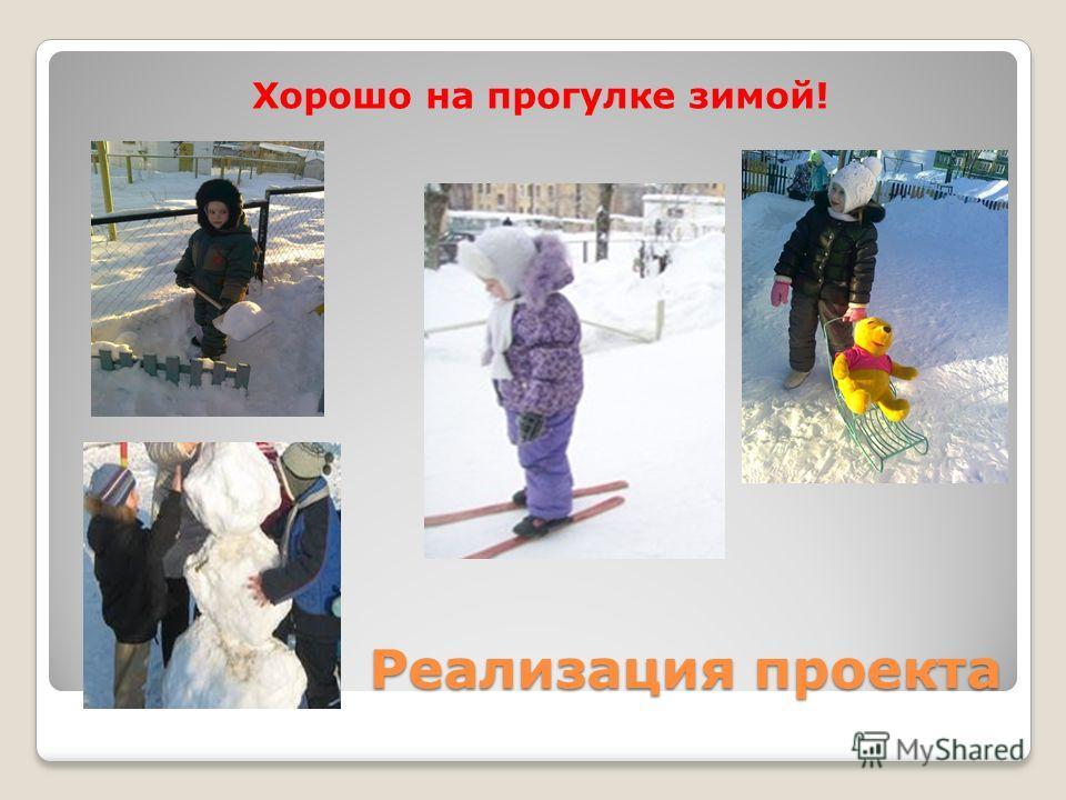 Реализация проекта Хорошо на прогулке зимой!