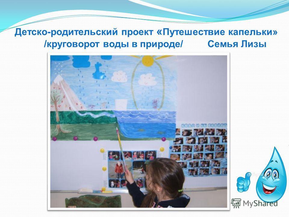 Детско-родительский проект « Путешествие капельки» /круговорот воды в природе/ Семья Лизы