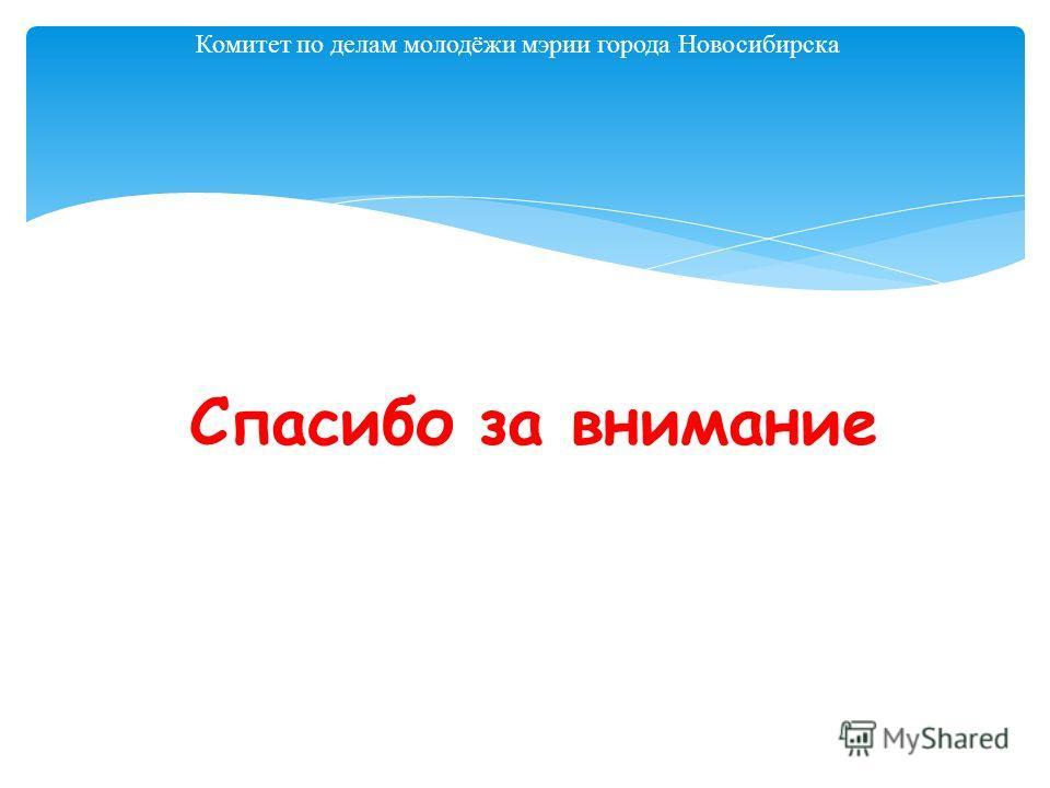 Комитет по делам молодёжи мэрии города Новосибирска Спасибо за внимание