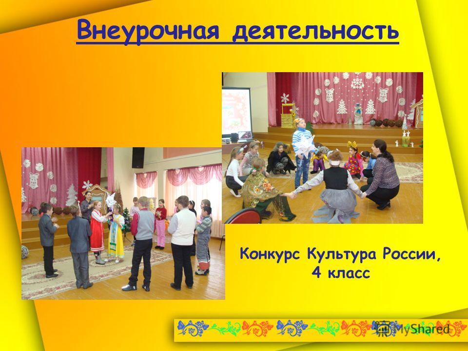 Внеурочная деятельность Конкурс Культура России, 4 класс