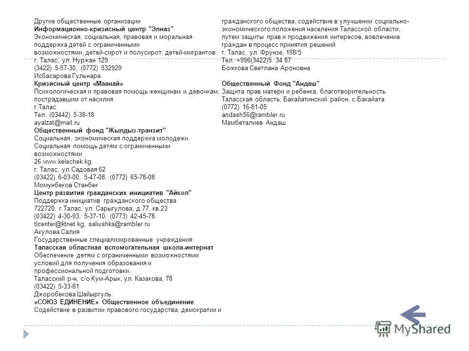 Другие общественные организации Информационно-кризисный центр