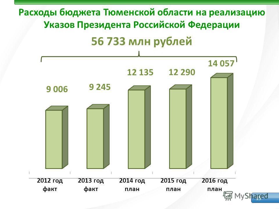 15 Расходы бюджета Тюменской области на реализацию Указов Президента Российской Федерации