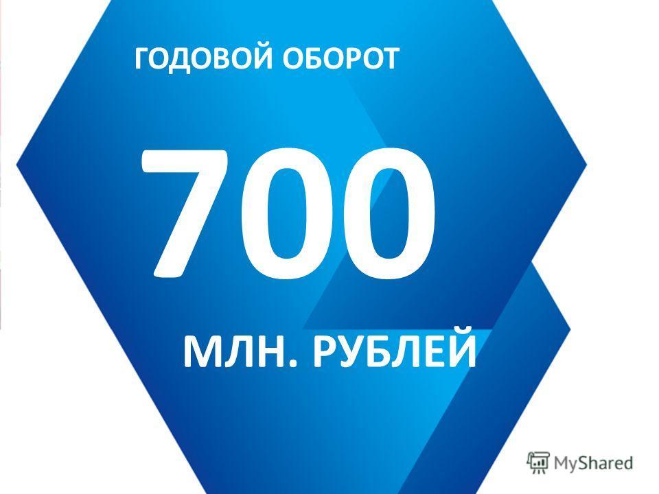 ГОДОВОЙ ОБОРОТ 700 МЛН. РУБЛЕЙ