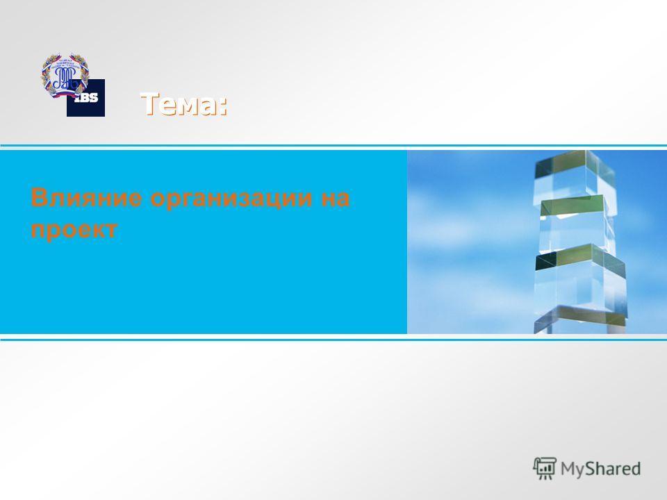 Тема: Влияние организации на проект