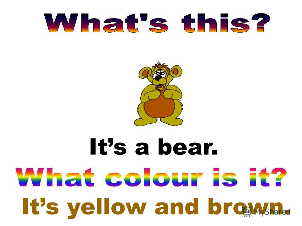 Its yellow and brown. Its a bear.