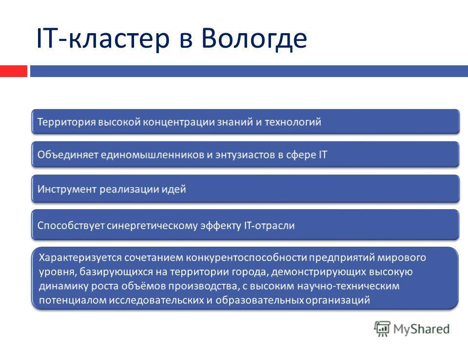 I Т - кластер в Вологде