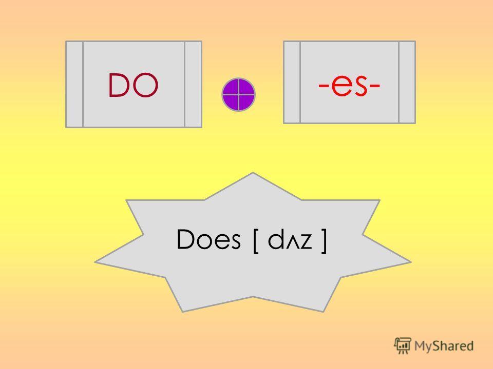 DO -es- Does [ dлz ]