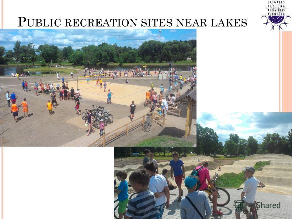 P UBLIC RECREATION SITES NEAR LAKES