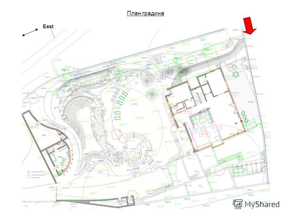 План градина East