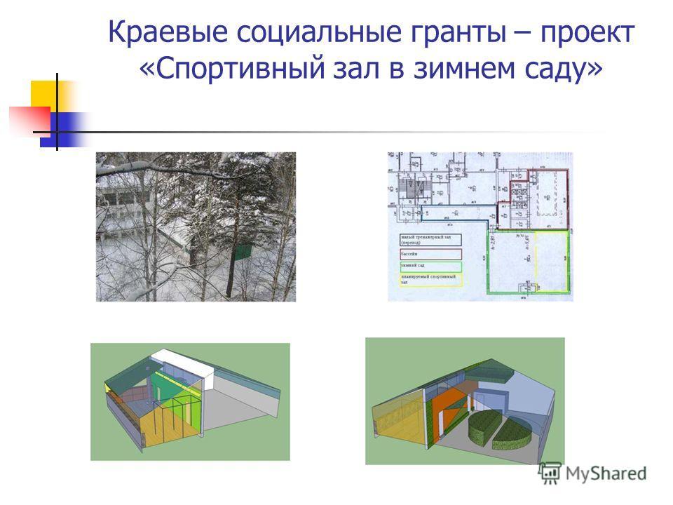Краевые социальные гранты – проект «Спортивный зал в зимнем саду»