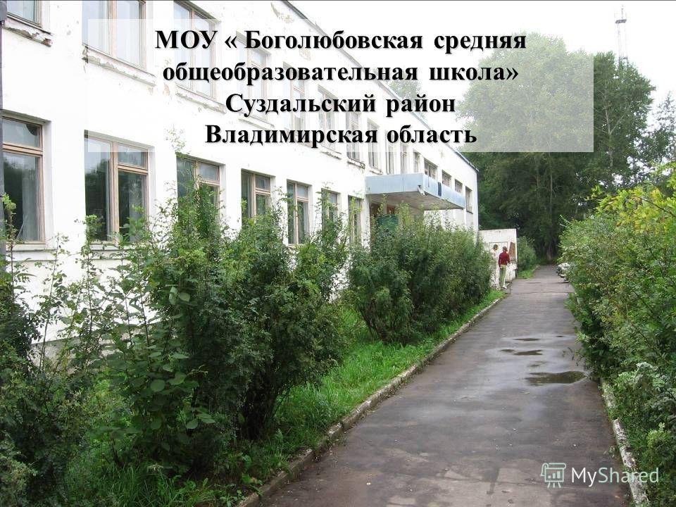 МОУ « Боголюбовская средняя общеобразовательная школа» Суздальский район Владимирская область