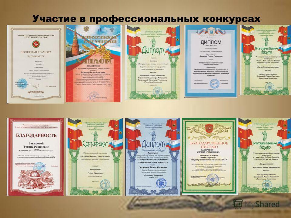 Участие в профессиональных конкурсах