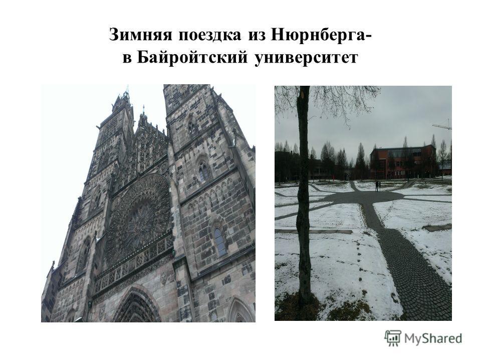 Зимняя поездка из Нюрнберга- в Байройтский университет