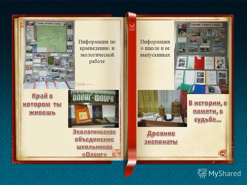 Информация по краеведению и экологической работе Информация о школе и ее выпускниках