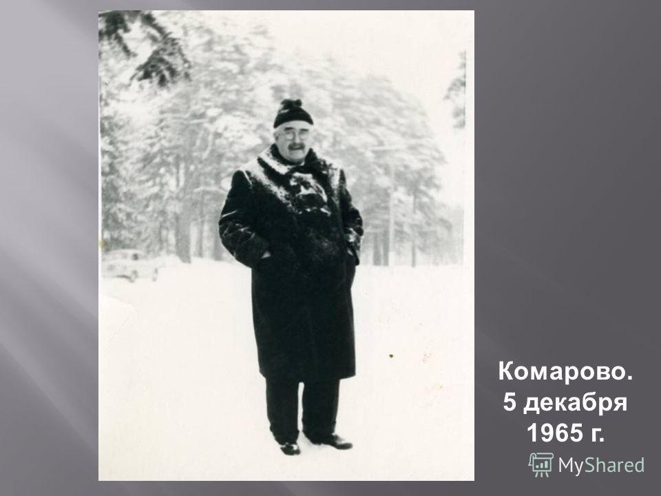 Комарово. 5 декабря 1965 г.