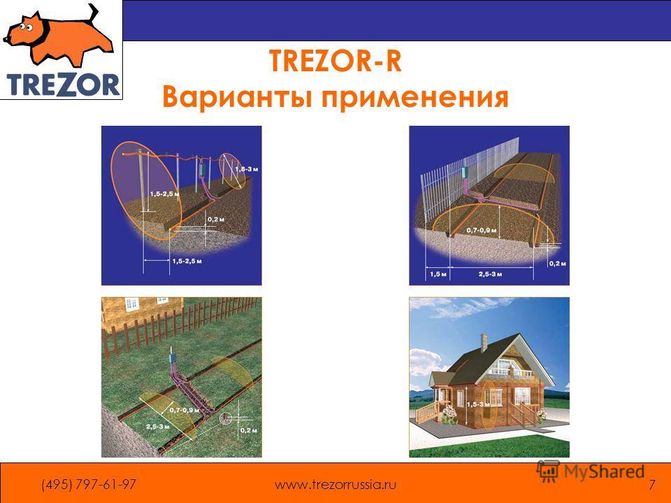 (495) 797-61-97www.trezorrussia.ru 7 TREZOR-R Варианты применения