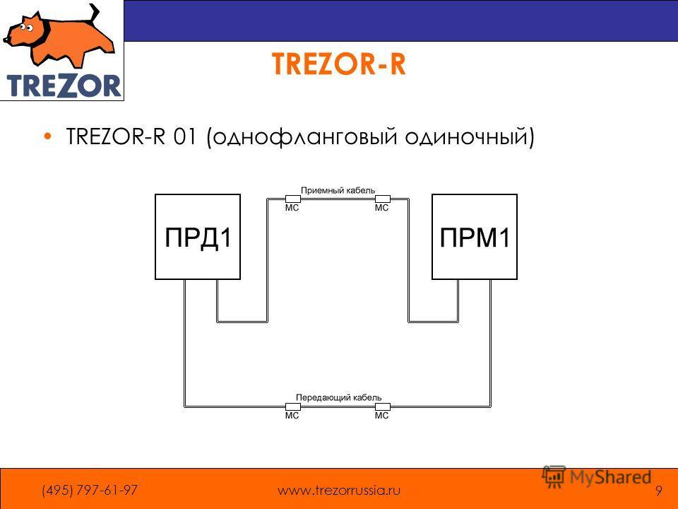 (495) 797-61-97www.trezorrussia.ru 9 TREZOR-R TREZOR-R 01 (однофланговый одиночный)