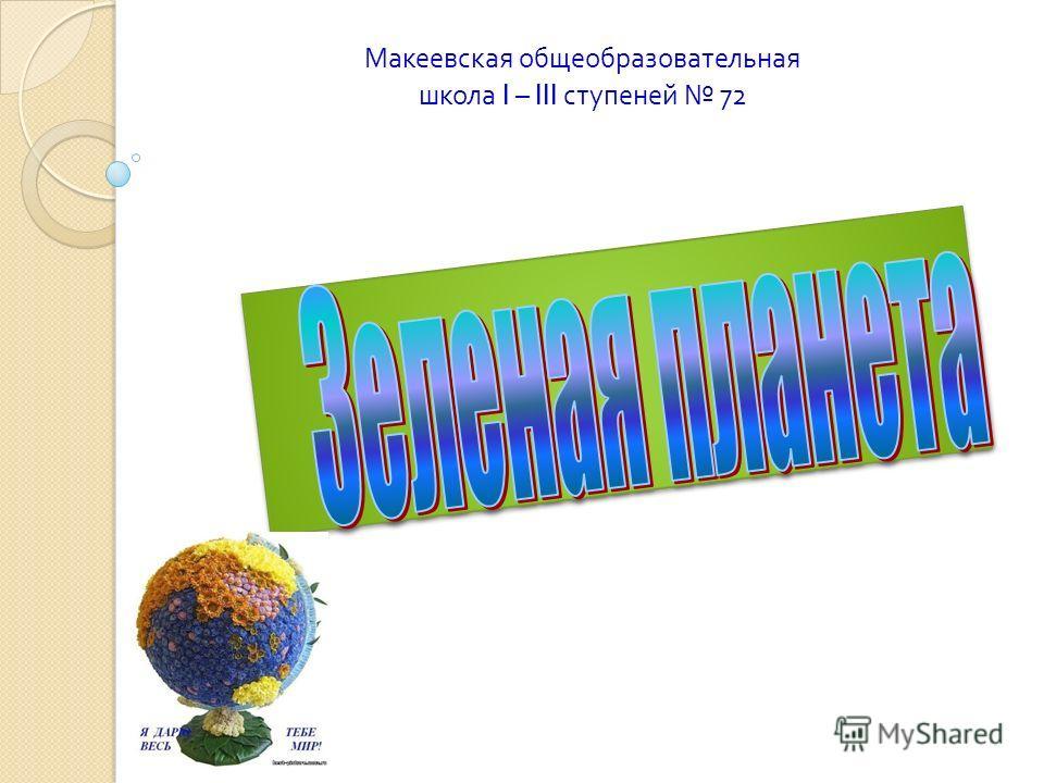 Макеевская общеобразовательная школа I – III ступеней 72
