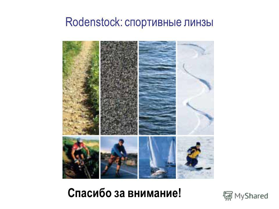 Rodenstock: спортивные линзы Спасибо за внимание!