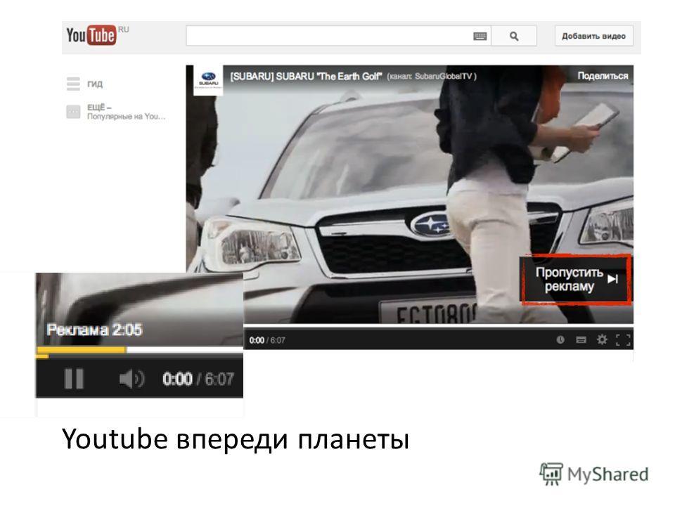 Youtube впереди планеты