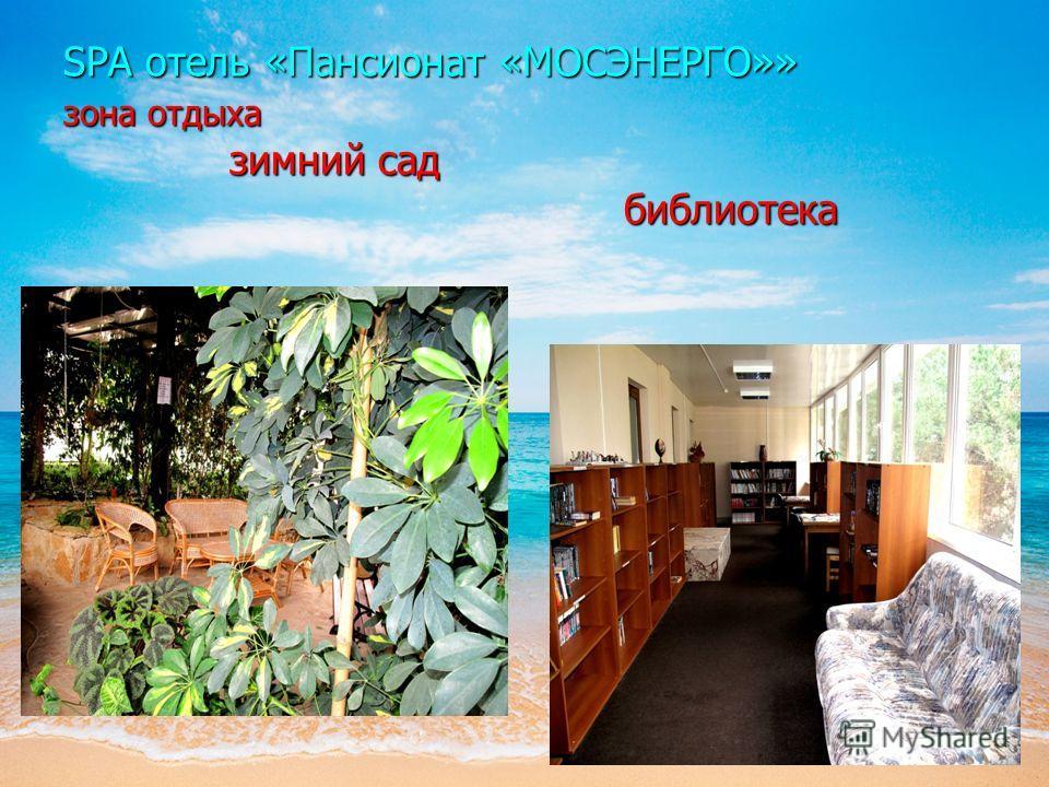 SPA отель «Пансионат «МОСЭНЕРГО»» зона отдыха зимний сад библиотека