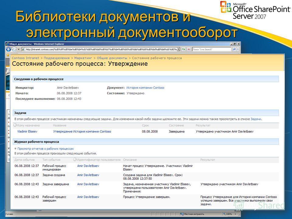 Библиотеки документов и электронный документооборот