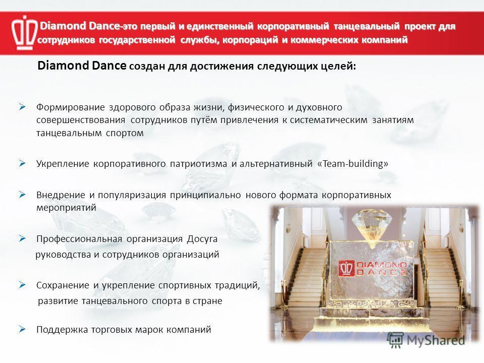 Diamond Dance -это первый и единственный корпоративный танцевальный проект для сотрудников государственной службы, корпораций и коммерческих компаний Diamond Dance -это первый и единственный корпоративный танцевальный проект для сотрудников государст