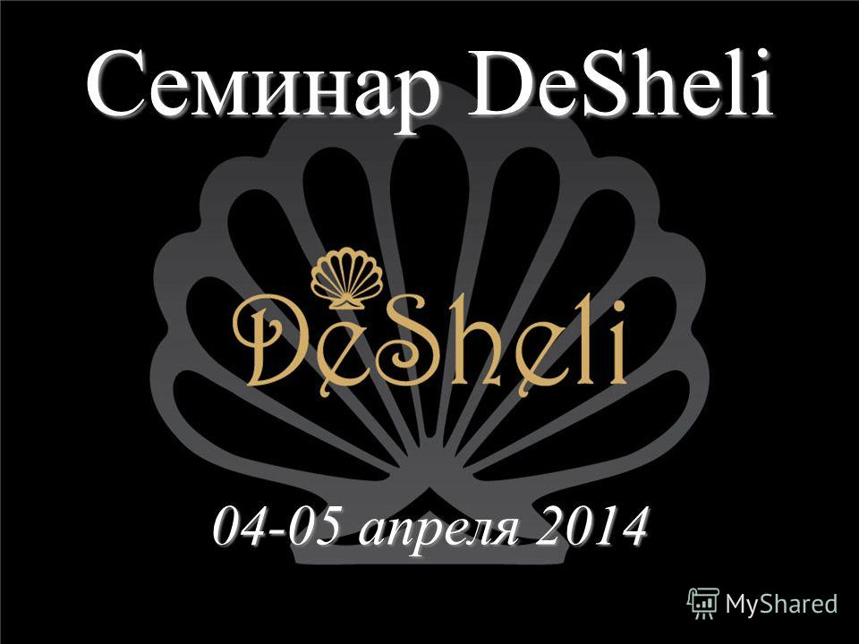 Семинар DeSheli 04-05 апреля 2014