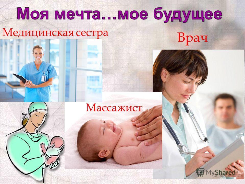 Врач Массажист Медицинская сестра