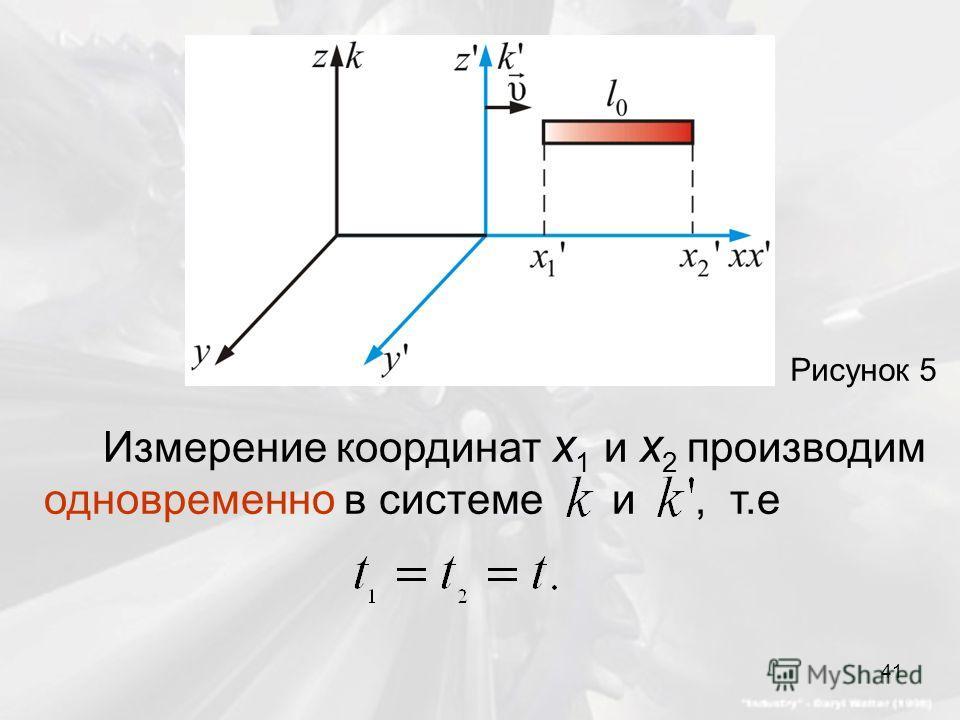 Рисунок 5 Измерение координат x 1 и x 2 производим одновременно в системе и, т.е 41