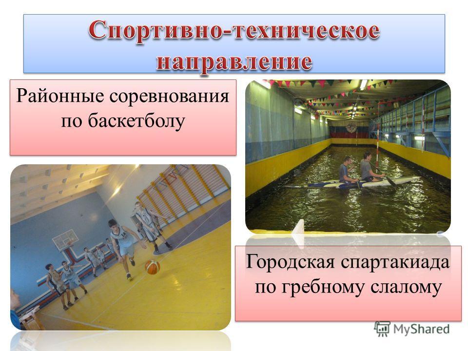 Районные соревнования по баскетболу Городская спартакиада по гребному слалому