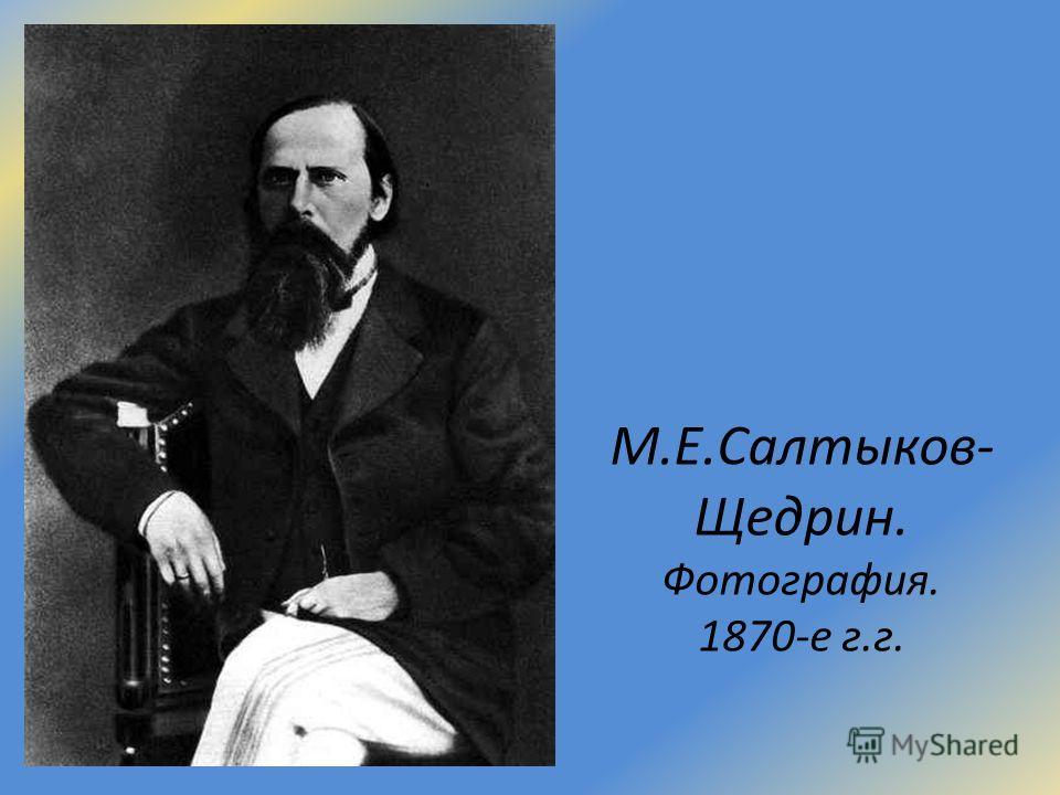 М.Е.Салтыков- Щедрин. Фотография. 1870-е г.г.