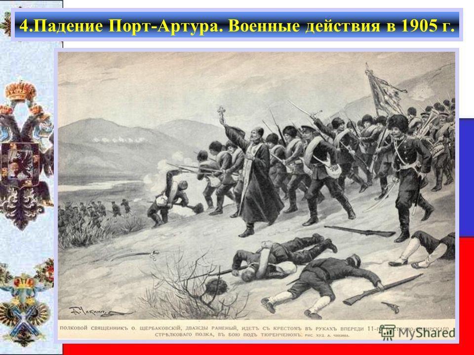 4.Падение Порт-Артура. Военные действия в 1905 г.
