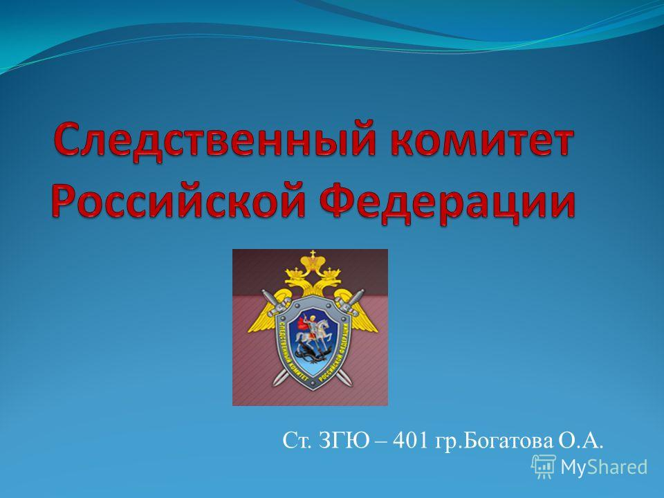 Ст. ЗГЮ – 401 гр.Богатова О.А.