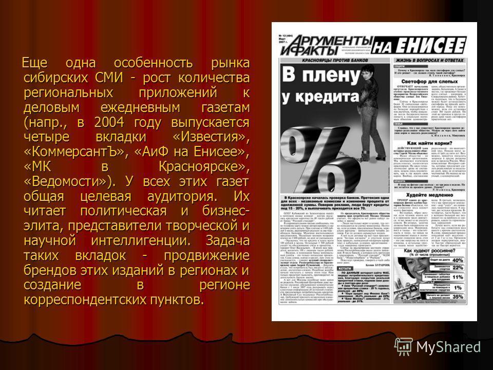 Самый большой сегмент печатных СМИ в городе - издания general interest (рассчитанные на широкую аудиторию). В него входят общественно-политические газеты («Городские новости», «Известия», «Комок»), включая таблоиды («Комсомольская правда», «Жизнь», «