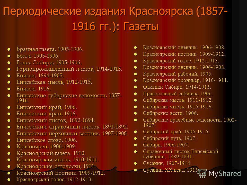 Известные красноярские журналисты Никита Скорняков был сотрудником в «Енисее». В 18 лет он уже сотрудничал в 33 изданиях. Писал передовицы и очерки русской жизни. Благодаря связям Скорнякова, которые простирались далеко за пределы Енисейской губернии