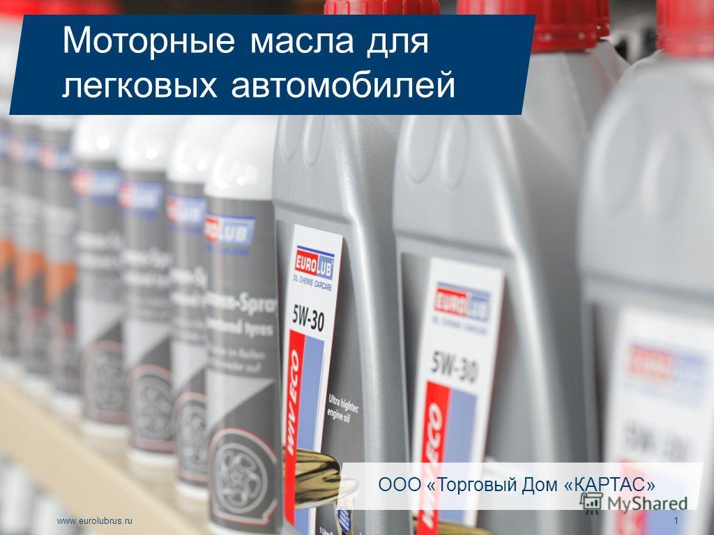 www.eurolubrus.ru1 Моторные масла для легковых автомобилей ООО «Торговый Дом «КАРТАС»