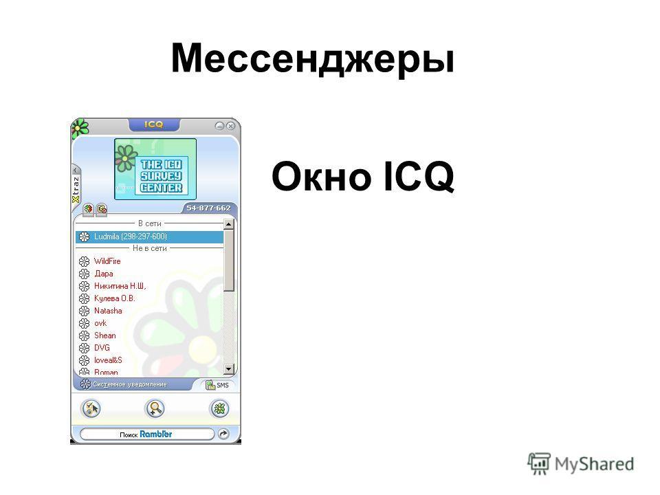 Окно ICQ Мессенджеры