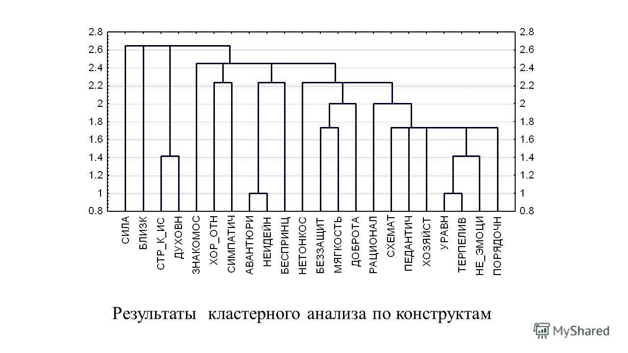 Результаты кластерного анализа по конструктам