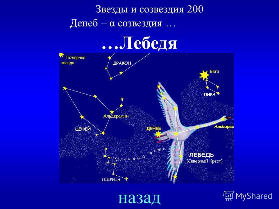 Денеб – α созвездия … ответ Звезды и созвездия 200