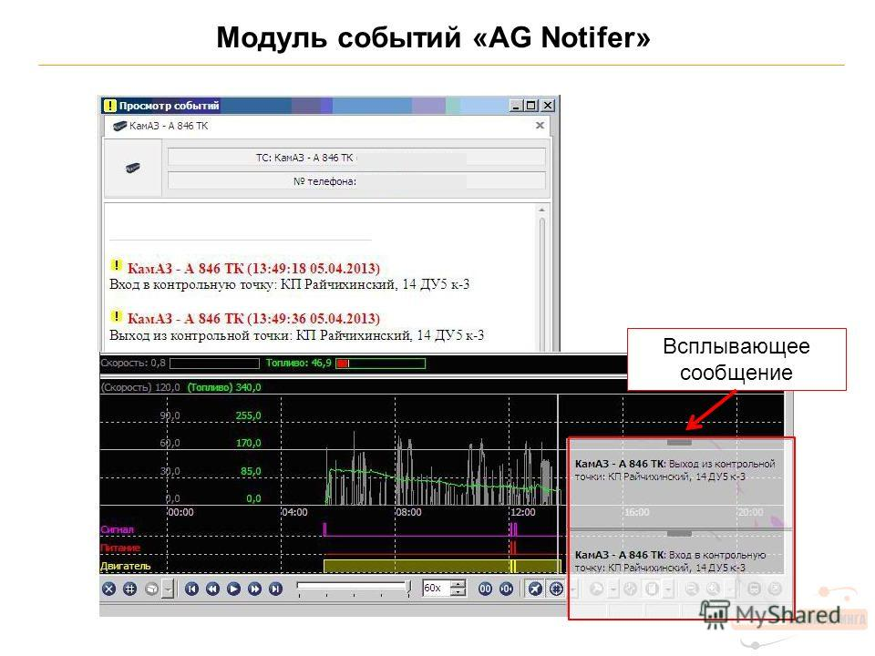 Модуль событий «AG Notifer» Всплывающее сообщение