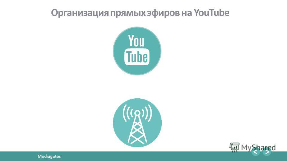 21 Mediagates Организация прямых эфиров на YouTube