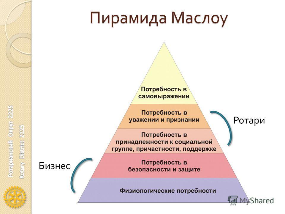 Пирамида Маслоу Ротари Бизнес