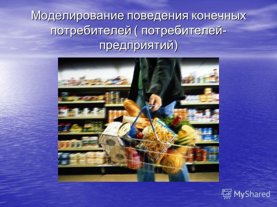 Моделирование поведения конечных потребителей ( потребителей- предприятий)