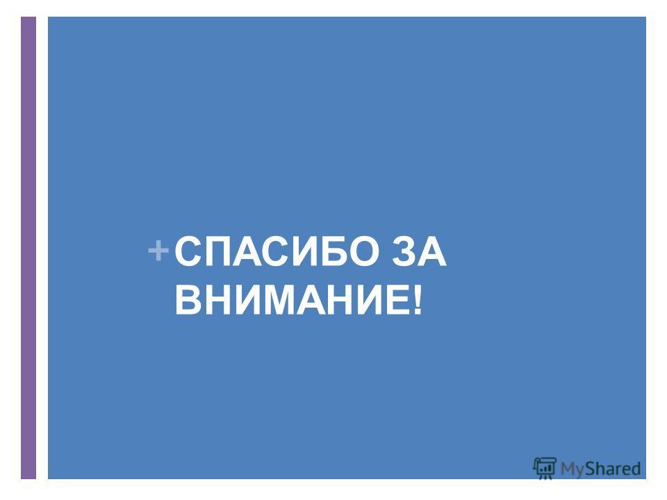+ СПАСИБО ЗА ВНИМАНИЕ!