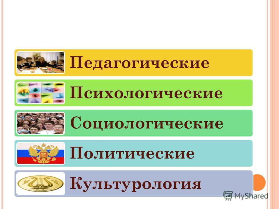 Педагогические Психологические Социологические Политические Культурология